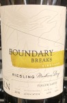 Boundary Breaks Reserve No.198 Riesling Finger Lakes 2017 (750ml)