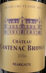 Chateau Cantenac Brown Margaux 2016 (750ML)