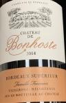 Chateau de Bonhoste Bordeaux Superieur Rouge 2015 (750ml)