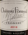 Chateau Fontenil Fronsac Rouge 2016 (750ml)