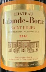 Chateau Lalande Borie Saint Julien 2016 (750ml)