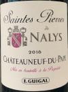 Chateau de Nalys Saintes Pierre Chateauneuf du Papes Rouge 2016 (750ml)
