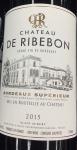 Chateau de Ribebon Bordeaux Superieur 2015 (750ml)