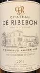 Chateau de Ribebon Bordeaux Superieur 2018 (750ml)