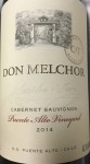 Concha y Toro 'Don Melchor' Puente Alto Maipo Valley 2014 - (750ml) WS 96pts