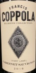 "Coppola Cab Sauv ""Diamond Collection"" Napa Valley 2016 (750ML)"