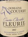 Domaine Coudert Fleurie Cuvee Christie 2017 (750ml)