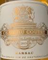 Chateau Coutet Sauternes Barsac 2015 (375ML)