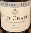 Bernard Defaix Petit Chablis 2018 (750ml)
