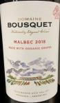 Domaine Bousquet Malbec Tupungato Valley Mendoza 2019 (Organic) (750ML)
