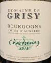 Domaine de Grisy Bourgogne Blanc 2018 (750ml)