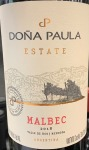 Dona Paula Estate Malbec Mendoza 2018 (750ML)