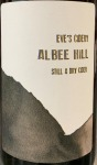 "Eve's Cidery ""Albee Hill"" Still Cider NV (750ML)"