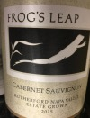 Frog's Leap Cabernet Sauvignon Rutherford, Napa Valley 2017 (750ml)