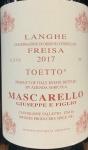 Giuseppe Mascarello Freisa Toetto 2017 (750ML)
