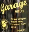 Garage Wine Co.Cabernet Franc Pirque Vineyard Lot #80 2016 (750ml)