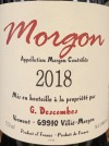 Georges Descombes Morgon Cru Beaujolais 2018 (750ML)