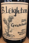 B Leighton Gratitude Blend Olsen Brothers Vineyard 2016 (750ml)