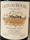 Domaine Huet 'Clos du Bourg' Vouvray Demi Sec 2017 (750ml)