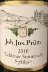 J.J. Prum Wehlener Sonnenuhr Spatlese Riesling 2018 (750ML)
