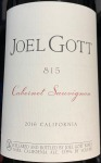 Joel Gott '815' Cabernet Sauvignon California 2016 (750ml)