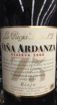 La Rioja Alta 'Ardanza' Reserva Rioja 2008 (750ML)