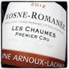 Arnoux-Lachaux Vosne-Romanee 1er Cru 'Les Chaumes' 2012 - 90pts WS (Biodyanmic) (750ML)