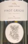 """Alois Lageder Pinot Grigio Dolomiti """"Terra Alpina"""" 2018 (750ml)"""