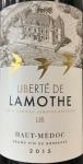 Chateau Lamothe Liberte de Lamothe Haut-Medoc 2015 (750ML)