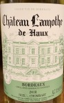 Chateau Lamothe de Haux Bordeaux Blanc 2018 (750ML)