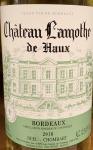 Chateau Lamothe de Haux Bordeaux Blanc 2018 (750ML)