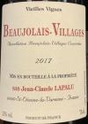 Lapalu Beaujolais Villages Vieilles Vignes 2018 (750ml)