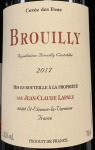 Lapalu Brouilly Cuvee des Fous 2017  (750ml)