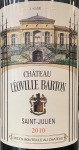 Chateau Leoville Barton Saint Julien 2010 (750ML)