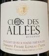 Domaine Luneau Papin Sur Lie Muscadet Sevre et Maine Clos des Allees Vieilles Vignes 2018 (750ml)