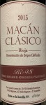 Bodegas Benjamin de Rothschild Vega Sicilia Macan Clasico Rioja 2015 (750ml)