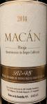 Bodegas Benjamin de Rothschild Vega Sicilia Macan Rioja 2014 (750ml)