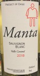 Manta Sauvignon Blanc 2018 (750ml)