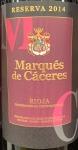 Marques de Caceres Rioja Reserva 2015-  (750ML)