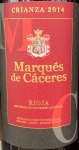 Marques de Caceres Rioja Crianza Red 2014 (750ML)