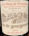 Mas de Gourgonnier Les Baux de Provence Red 2016 -(Organic) (750ml)