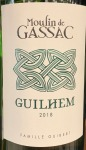 Moulin de Gassac Guilhem White 2018 (.750L)