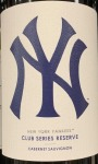 MLB Club Series New York Yankees Paso Robles Cabernet  Sauvignon reserve 2015 (750ml)