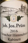Joh. Jos. Prum Graacher Himmelreich Kabinett Riesling 2018 (750ml)