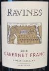 Ravines Wines Cellar Cabernet Franc Finger Lakes 2018 (750ML)