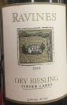 Ravines Wines Cellars Dry Riesling Finger Lakes 2016 (750ml)