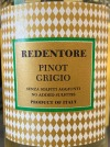 Redentore Pinot Grigio delle Venezie 2018(750ML) (Organic)