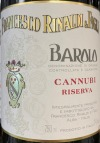 Francesco Rinaldi Barolo Cannubi Riserva 2013 (750ML)