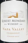 Robert Mondavi Chardonnay Napa Valley 2015 (750ML)