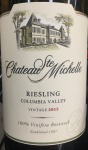 Chateau Ste. Michelle Semi-Sweet Riesling Columbia Valley 2017 (750ML)
